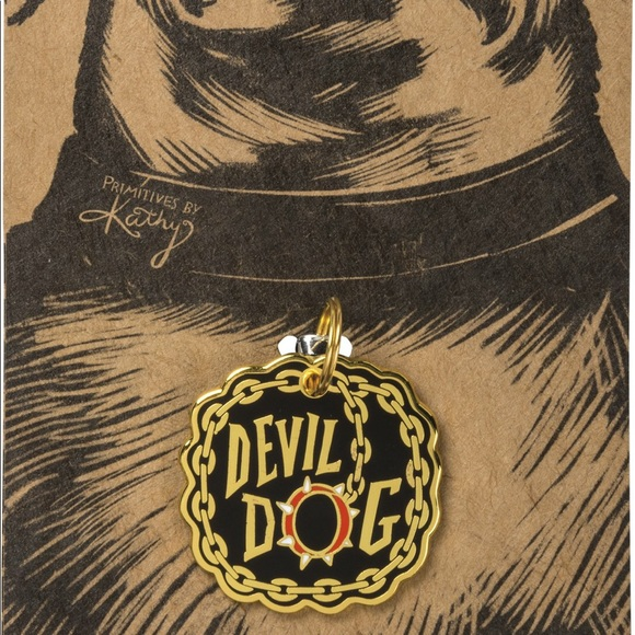 🆕 Pet Collar Charm Tag - Devil Dog